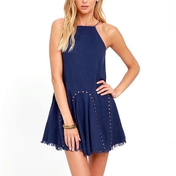 7ed35817eff NWT Moon River Blue Swing Dress Size M
